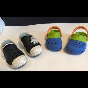 Crocs Iconic Clogs. Two pairs size Child 6, GU, EU